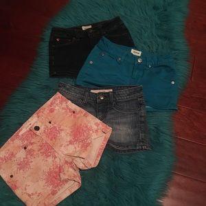 Joe's and Hudson girls jean shorts